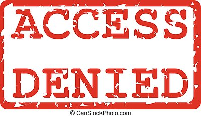 This is a design of an access denied label in red.