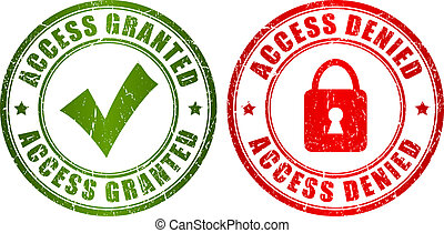Access granted and denied stamps set