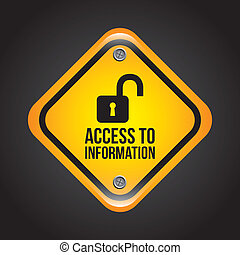 access to information over black background vector illustration