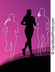 Active women runner sport athletics