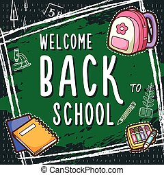 adorable back to school poster design