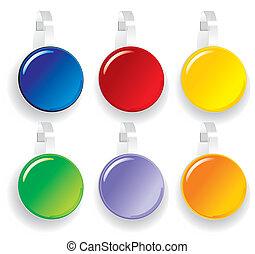 advertising color Paper wobbler