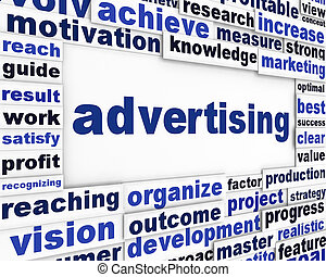 Advertising conceptual message background. Advertisement marketing poster