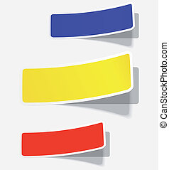 The vector illustration of colorfull advertising coupons .