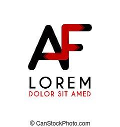AF Letter black logo with gradient arrow