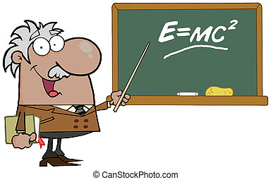 Happy Black Professor Discussing Mass Energy Equivalence Physics