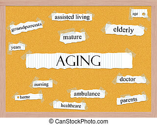 Aging Corkboard Word Concept
