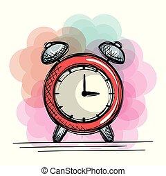 alarm clock time drawing