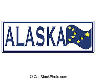alaska grunge stamp with on vector illustration