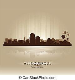 Albuquerque, New Mexico skyline city silhouette