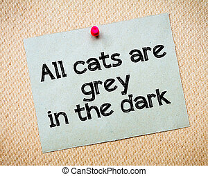 All cats are grey in the dark