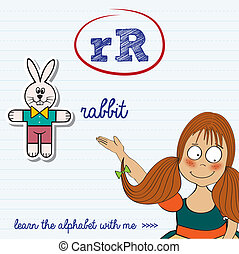 alphabet worksheet of the letter r