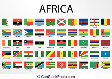 Alphabetical Country Flags - Continent of Africa