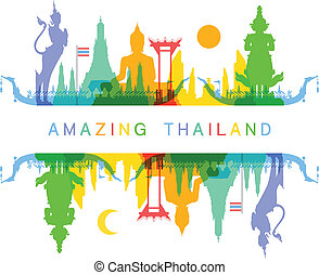 Amazing Thailand Vector and Illustration