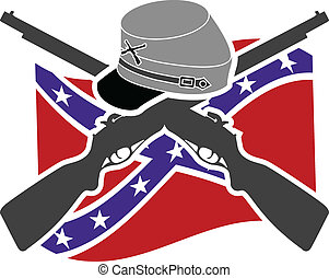American Civil War. Confederacy. Stencil