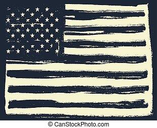 American Flag Background. Horizontal orientation.