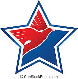 Vector of American flag-eagle symbol