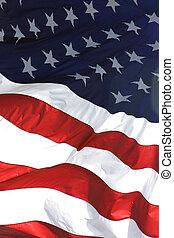 American flag, in vertical view.