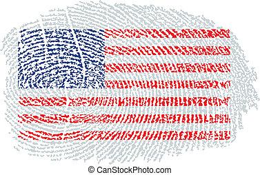 American Flag within a fingerprint