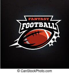 American football fantasy logo emblem. Vector illustration.