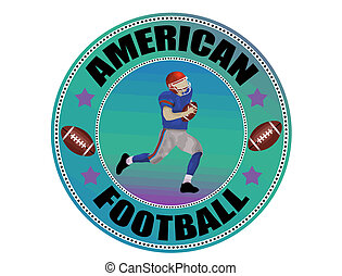 American Football label