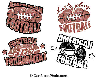 american football stamps