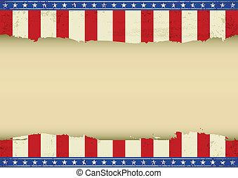 American horizontal background
