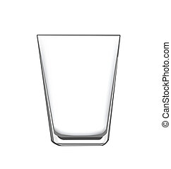 an empty drinking glass, for concept or design elements