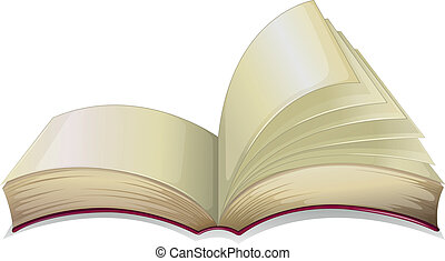 An empty open book