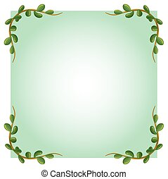 An empty template with leafy border