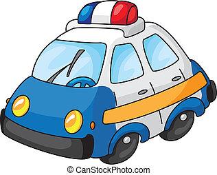 An illustration of a police car