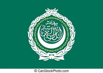 Illustration of the flag of Arab League