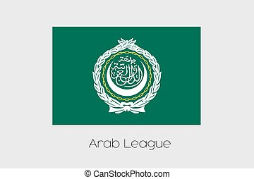 Illustration of the flag, with name, of the country of Arab League