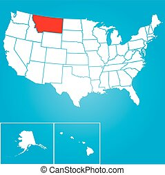 An Illustration of the United States of America State - Montana