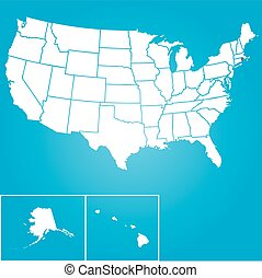An Illustration of the United States of America State - Rhode Island