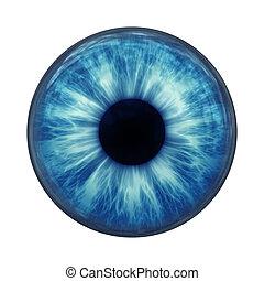 An image of a blue eye ball glass