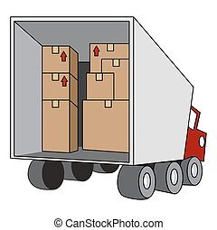 An image of a moving relocation truck.