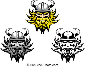 Ancient angry viking warrior as a mascot or tattoo