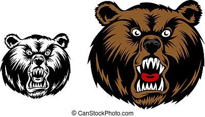 Angry bear mascot