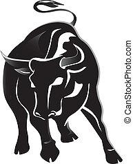 Angry Black bull