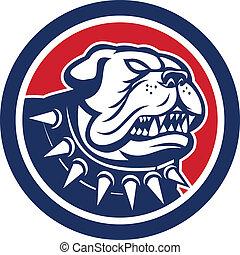 Angry Bulldog Dog Mongrel Head Mascot