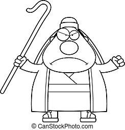 Angry Cartoon Shepherd