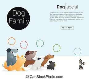 Animal banner with Dog for web design , vector , illustration