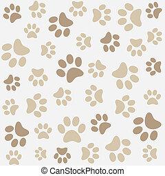 Animal pattern of paw footprint