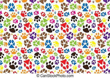 Animal paw pattern