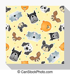 Animal seamless pattern collection with dog 2