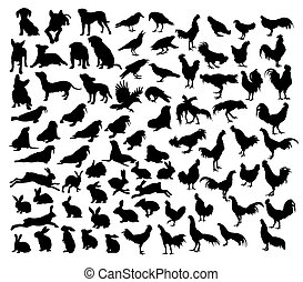 Animal Set Silhouettes