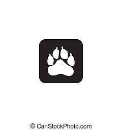 Animals paw track logo icon design vector template
