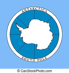 Antarctica continent logo. Vector illustration