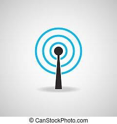 Antenna Satellite dish and technology icon